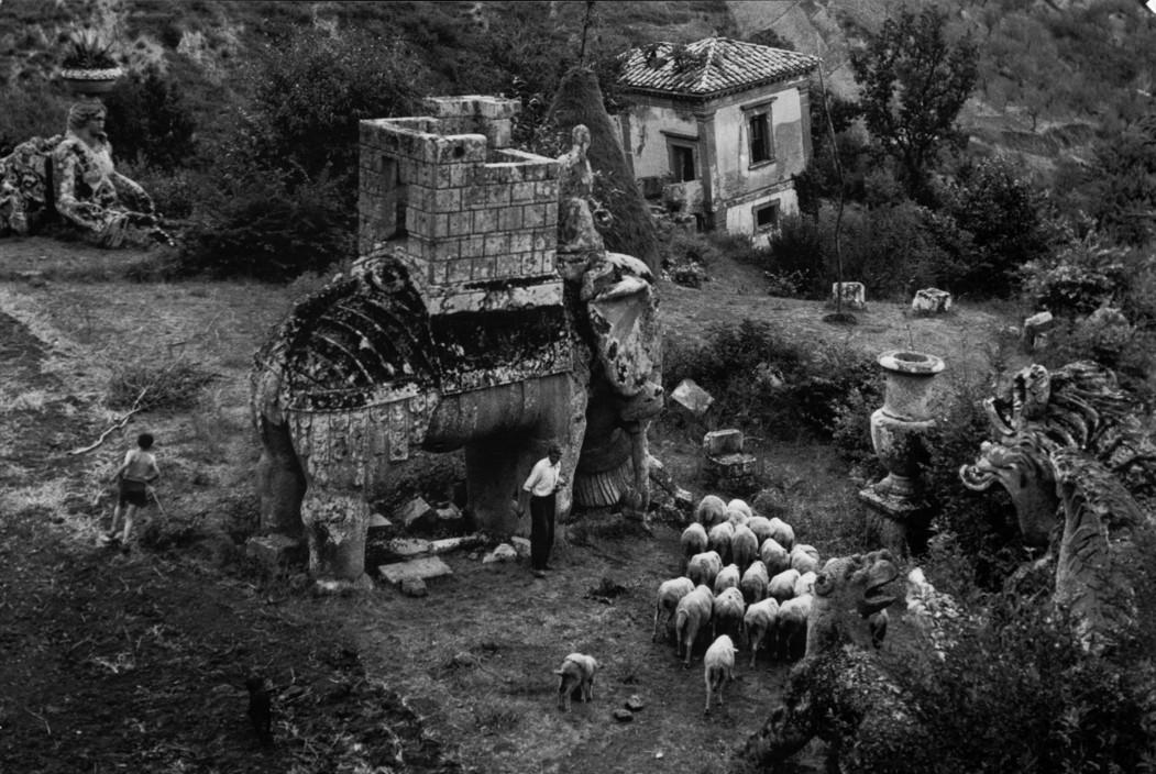 ITALY. Bomarzo. Park of the Palazzo Orsini. 1952. A-IT-BOM-002